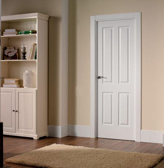 puertas interior madera lacadas
